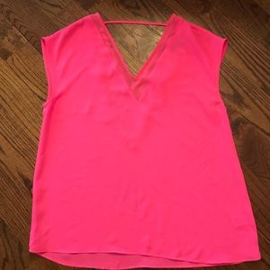 Neon Pink Chiffon Blouse